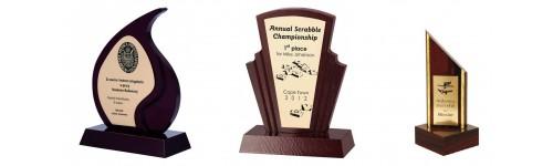 Trofea drewniane z grawerem