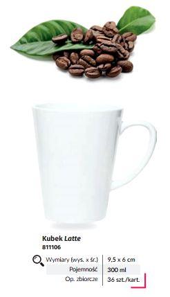 Kubek biały latte z nadrukiem sublimacyjnym