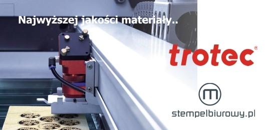 Grawerowanie laserowe laserem Trotec - najwyższej jakości materiały.